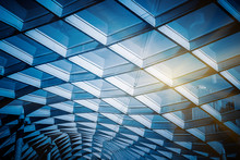 Glass Sunshade Structure,blue ...