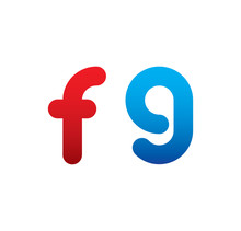 F9 Logo Initial Blue And Red