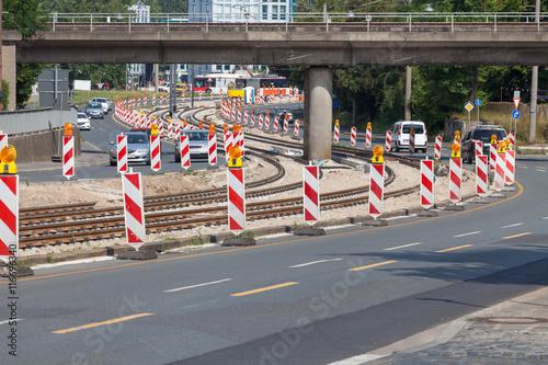 Straße Straßenbahn Neubau