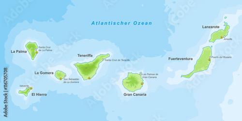Kanarische Inseln Landkarte Buy This Stock Vector And Explore