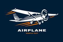 Airplane Club Vector Illustration Logo