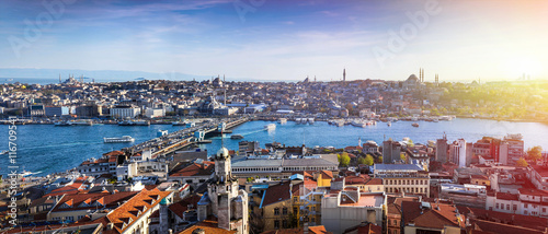 Istanbul the capital of Turkey, eastern tourist city. Fototapeta