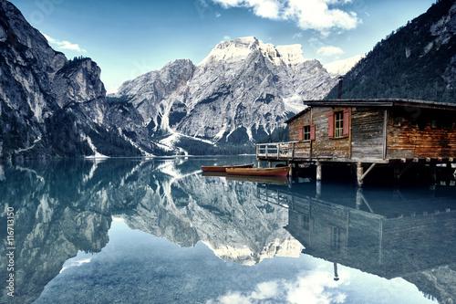 Spoed Foto op Canvas Alpen Dolomiten - Bergwelt in den Alpen
