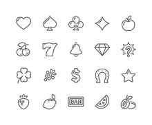 Line Slot Machine Icons
