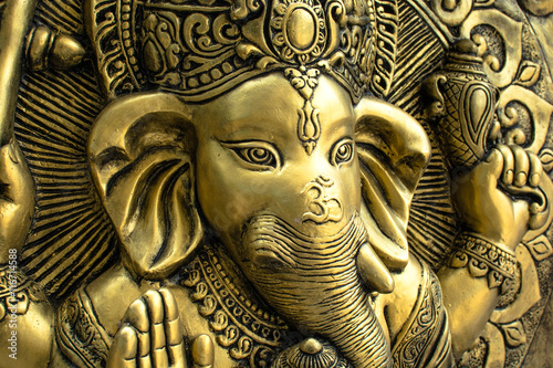 Golden Hindu God Ganesh