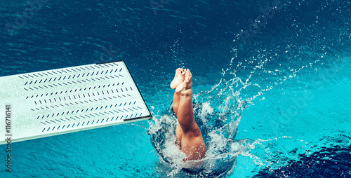 Foto op Canvas Duiken Springboard diving