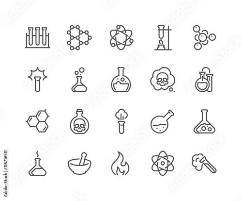 Fotografia  Line Chemical Icons