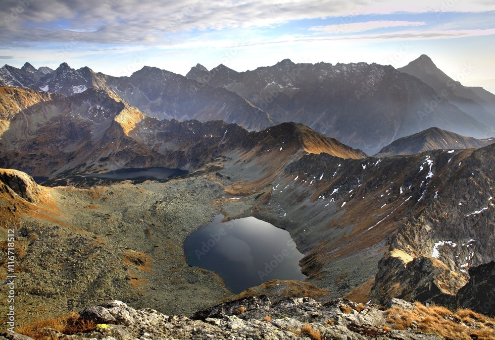 Zadni Staw Polski in  Valley Of The Five Lakes. Tatras