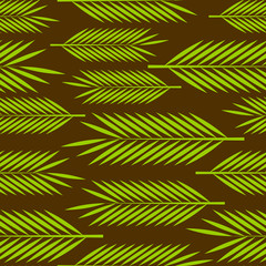Obraz na PlexiSeamless pattern with palm leaves ornament