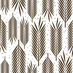 Fototapeta Liście Seamless pattern with palm leaves ornament