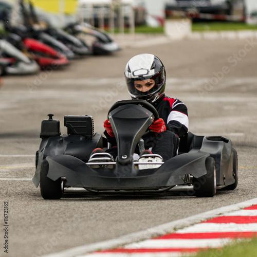 Go kart on the track