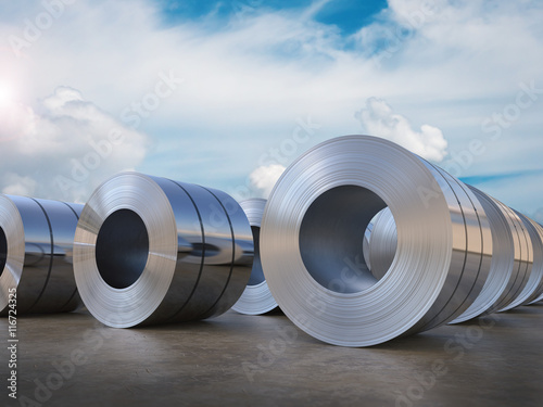 Photo roll of steel sheet