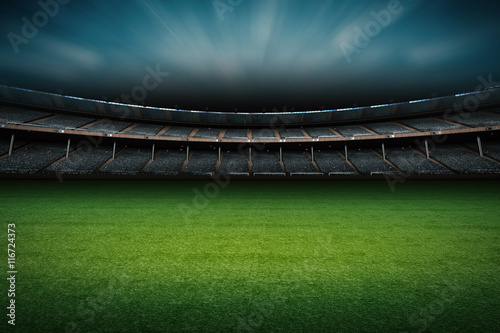 Stickers pour porte Stade de football stadium with soccer field