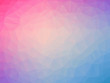 Abstract pink blue gradient low polygon shaped background
