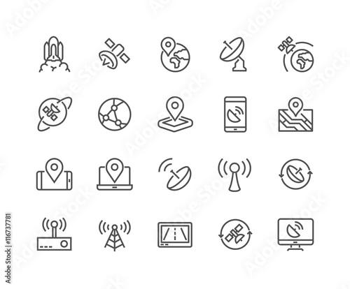 Fotografie, Tablou  Line Satellite Icons