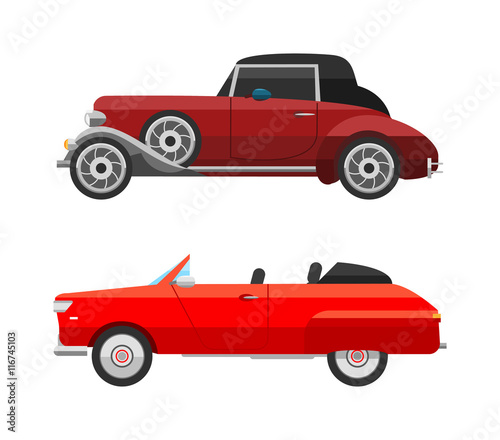 Retro car vector vehicle
