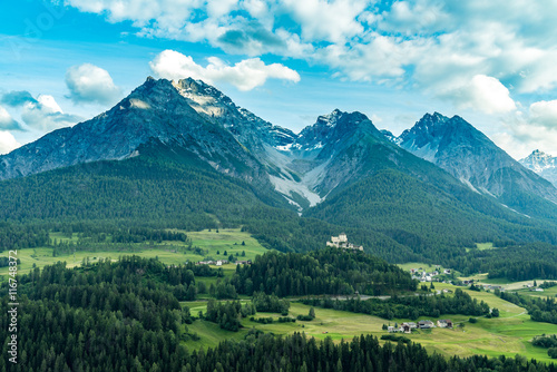 Cadres-photo bureau Alpes Aerial view on the city Alps