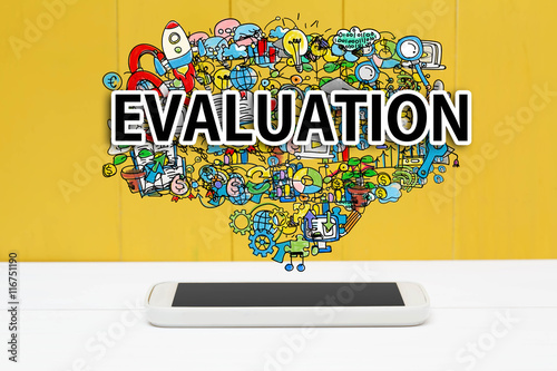 Evaluation concept with smartphone Canvas Print