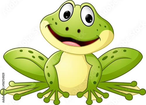 Fotografie, Obraz  Cartoon cute frog