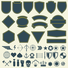 Vector Elements For Military, ...