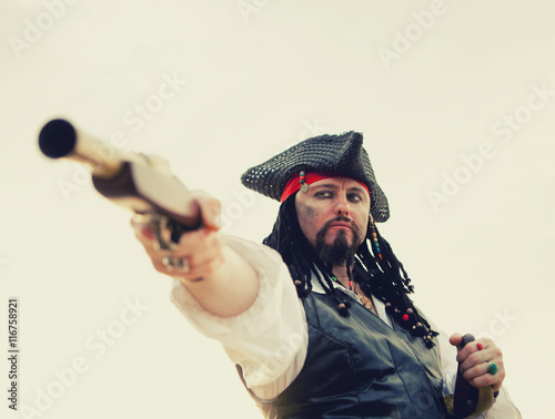 Plakat Pirat na wybrzeżu