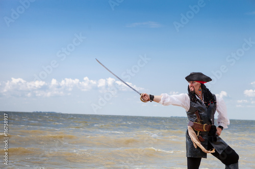 Fototapeta premium Pirat na wybrzeżu