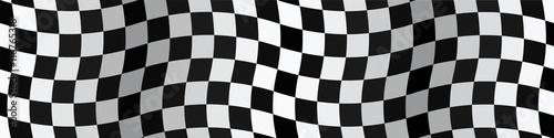 Foto op Canvas F1 Bannière. Drapeau. Damier. Checkerboard