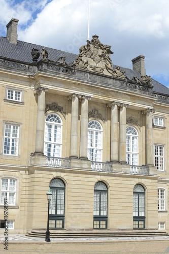 Photo  Amalienborg Palace home of the Danish Royal family, Copenhagen, Denmark