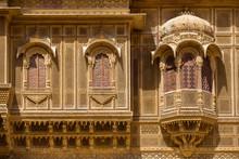 Nathmalji Ki Haveli At Jaisalmer, India. Architectural Detail