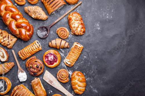 Fototapeta Delicious and sweet seasonal pastry background