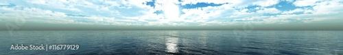 panorama of sea sunset. seascape.