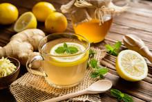 Ginger Root Tea With Lemon, Ho...