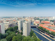 Berlin aerial skyline over Spree river, Germany