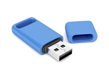 Blue Usb Flash Drive