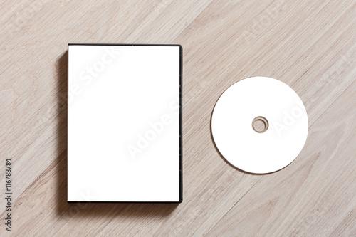 Fotomural  Dvd or cd disc cover case mockup