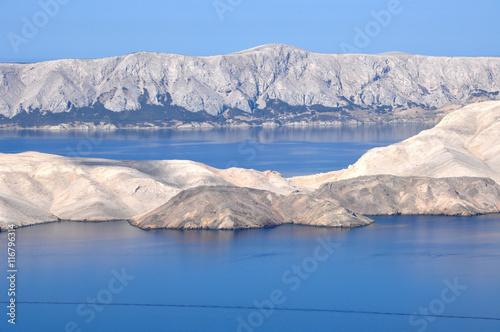 Valokuva  Adriatic rocky coast in Dalmatia