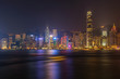 Beautiful view of hong kong skyline at night scene