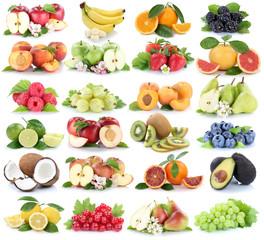 Früchte Frucht Obst Collage frische Apfel Orange Banane Orangen