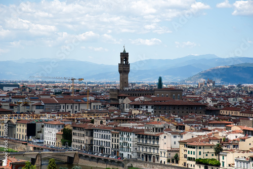 Fotobehang Florence Florence downtown, top view, Tuscany, Italy