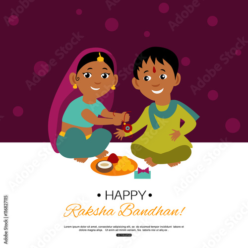 Valokuva  Raksha Bandhan Indian traditional holiday poster