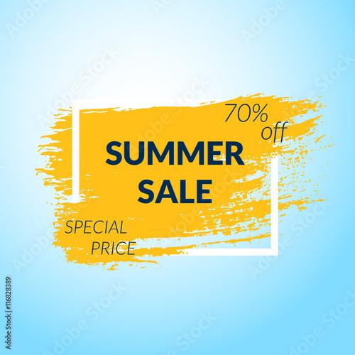 Staande foto Retro sign Summer Sale banner.