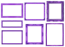 Collection Purple Frame Isolat...
