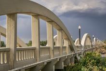 Concrete Arch Bridge Over South Platte River