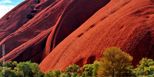 La pose en embrasure Brique Australia Landscape : Red rock of Australia