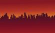 Big urban scenery silhouettes stock