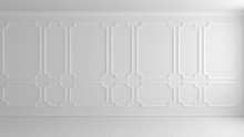 White Wall In A Classic Style