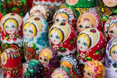 Foto op Canvas Moskou Wooden dolls matreshka