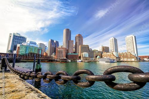 Fotografie, Obraz  Boston přístav Massachusetts