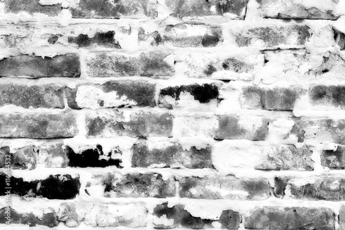 Photo  Brick texture with scratches and cracks