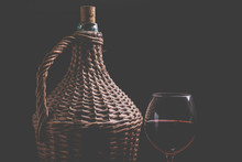 Wine Carboy And Wine Glass